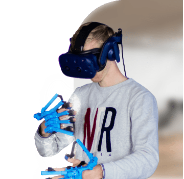 SenseGlove for VR AR Simulation mobile