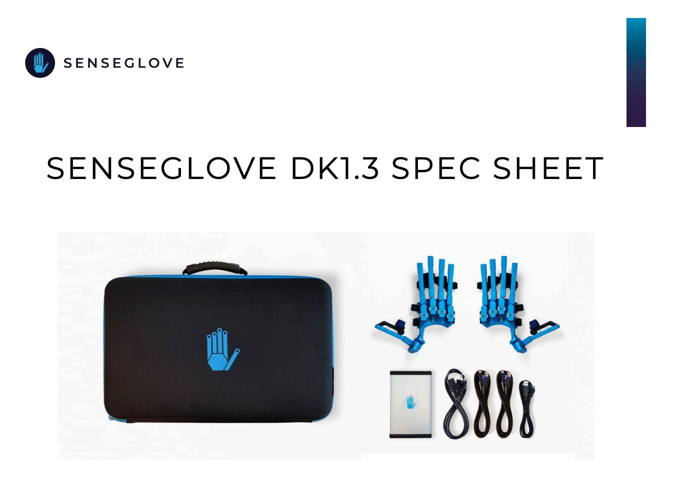 Senseglove dk13 spec sheet