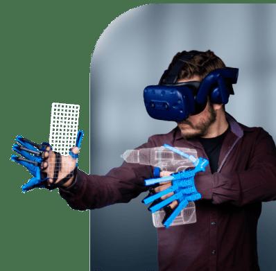 SenseGlove for VR AR simulation